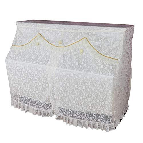 LIOOBO Flor de Encaje Cubierta de Piano Paño Vertical Arte