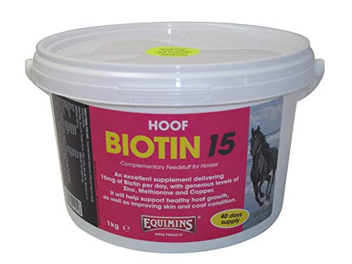 Equimins EQS0033 Suplemento Biotina 15, Unisex Adulto, Transparente, 1 kg