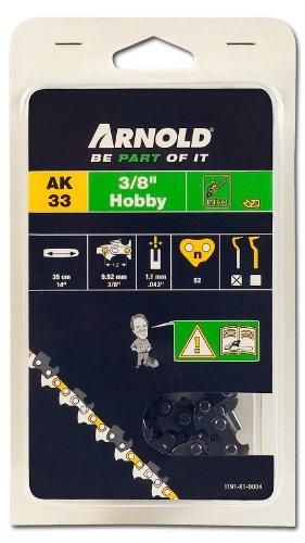 Arnold AARNOLD-Sägekette 3/8 Zoll Hobby, 1.1 mm, 52 Treibglieder, 35 cm Schwert 1191-X1-0004