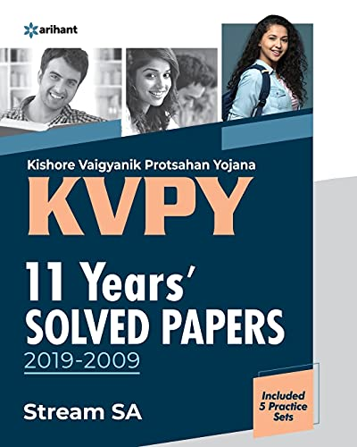 KVPY 11 Years Solved Papers 2019-2009 Stream SA