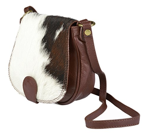 Echt Leder Kuhfell Handtasche für Damen: Kuhfelltasche klein - Exclusive Fell Handtasche Tracht Western