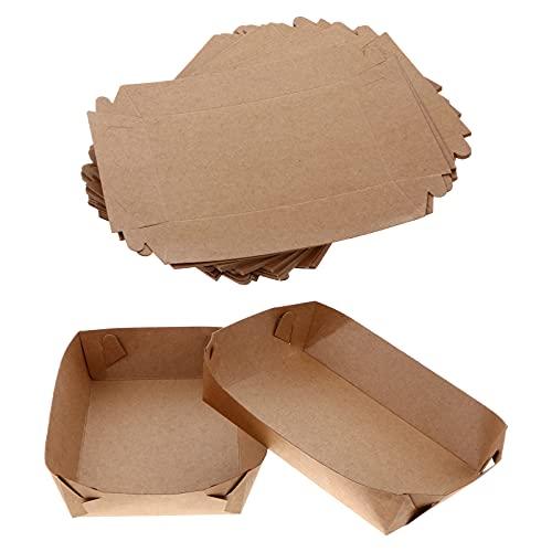 Toyvian Ensaladera de papel Kraft Ensaladera Bandejas de sushi Contenedores de preparación...