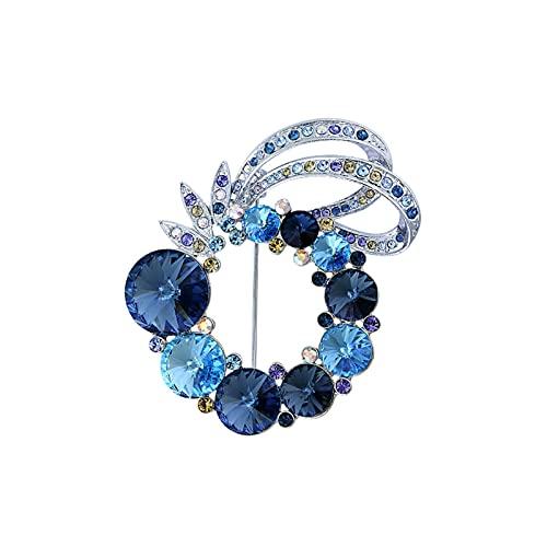 Broche para Damas Broches para la moda de las mujeres - Incrustado con broche de cristal vestido de joyería bufanda chal abrigo accesorios de decoración regalo para esposa Decoración Brooch