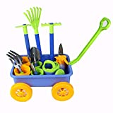 I&K Toys Gardening Tools Play Set for Kids – Includes Wheelbarrow, 4 Plant Pots, 10 Accessories – Outdoor Educational Toy ideal for Boys, Girls – Strong, Sturdy Gift for Birthdays, Thanksgiving