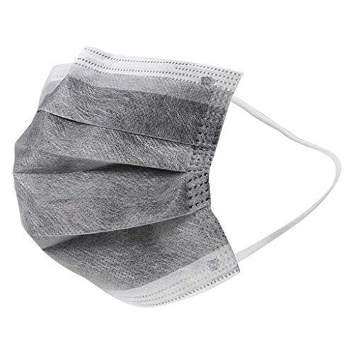 50 Stück Grau Einmal-Mundschutz, Staubs-chutz Atmungsaktive Mundbedeckung, Erwachsene, Bandana Face-Mouth Cover Sommerschal (i)