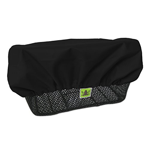 MadeForRain Regenschutz/Abdeckung für Fahrradkörbe CityTurtle - Tiefschwarz