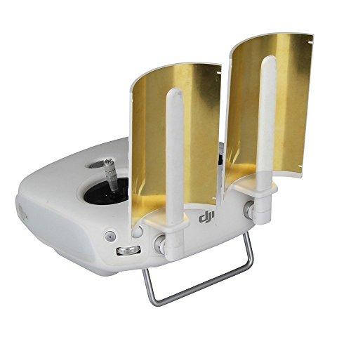 SKYREAT Copper Parabolic Antenna Range Booster for DJI Phantom 4 Phantom 4 Pro Phantom 3 Pro Advanced Inspire 1 Controller Transmitter Signal Extend (2 pcs)