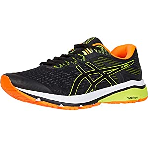 ASICS Men's GT-1000 8 Shoes, 10, Black/Safety Yellow