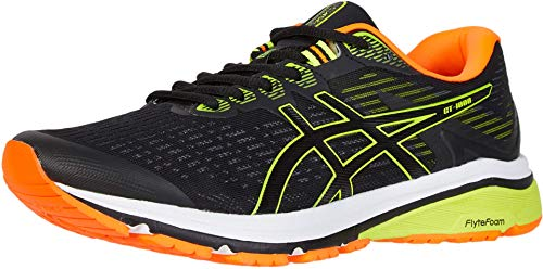 ASICS Men's GT-1000 8 Shoes, 8M, Black/Safety Yellow