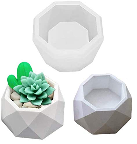 Crystal Ashtray Epoxy Resin Silicone Molds, Make Succulent Flower Pot, Jewelry Box, Candle Holder, for Casting with Wax Clay Soap Plaster Cement Concrete, Garden Bonsai DIY Art Decorating Tools; FM-B