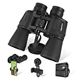 20x50 Binoculars for Adults withLow Light Night Vision- 26mm Large Eyepiece BAK4 Prism FMC Lens - HD Professional/Waterproof Binoculars withPhone Adapterfor Travel Bird Watching Hunting