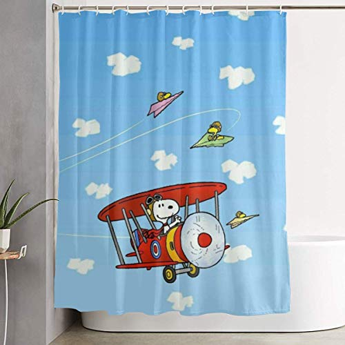 Duschvorhang Dekor S-noopy Home Decor Duschvorhang, zeitgenössischer Badezimmervorhang, Leicht zu pflegene Stoffduschvorhänge.