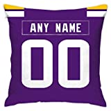 Custom Decorative Throw Pillow 18' x 18' - Print Personalized Football Style,Customization Design Any Name & Any Number (MN.Vikings, 18'x18')