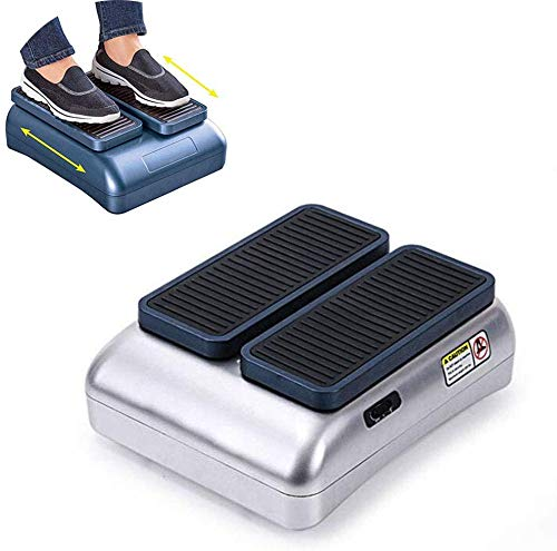 Knoijijuo The Tool Ginnico Sitting, Walking Physiotherapy Machine, Stepper Electric Elder, Improves Blood Circulation, for Elderly,Silver