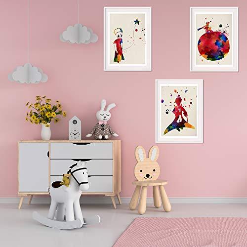 Nacnic Set de 3 Posters para niños y habitacion Infantil Estilo nordico tamaño A3El Principito sin Marco