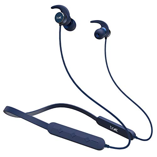 boAt Rockerz 255 Pro Wireless Headset with ASAP Charge Technology, Bluetooth V5.0, Qualcomm Chipset, Super Extra Bass, IPX5 Sweat and Water Resistance and Up to 6H Playtime (Navy Blue)