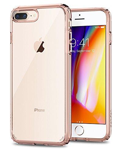 Spigen Funda Ultra Hybrid Compatible con Apple iPhone 7 Plus/8 Plus, Protección híbrida de la caída - Rose Crystal