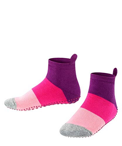 FALKE Kinder Stoppersocken Colour Block - 90prozent Baumwolle, 1 Paar, Violett (Crocus 6962), Größe: 19-22