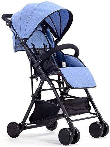 Cochecito de bebé for el recién nacido, el cochecito de bebé, cochecitos de bebé sistema de viaje cochecito ultra ligero portátil puede sentarse puede acostarse Doblar paisaje de la alta carro de bebé