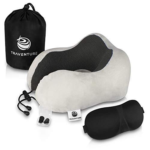 Bester der welt Travel Chart Label Pillow Set – Ergonomisches Nackenkissen mit langen Beinen für vollständige Entspannung.