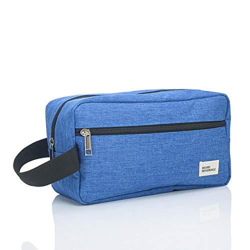 Sac de Rangement cosmétique pour Femmes Voyage Essentiel imperméable Sac cosmétique pour Dames Hommes Sac cosmétique Sac de Lavage-Bleu Clair/Mat