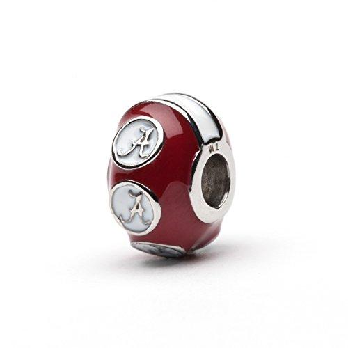 University of Alabama Bead Charm | Stainless Steel Crimson Tide Charm | Alabama Gift | Fits Most Popular Bracelets