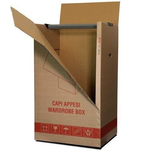 Simba Paper Design srl Kit 2 Scatole Cartone Porta Abiti Capi Appesi cm. 50x60 H 111 con appendino + 1 Nastro Adesivo Omaggio