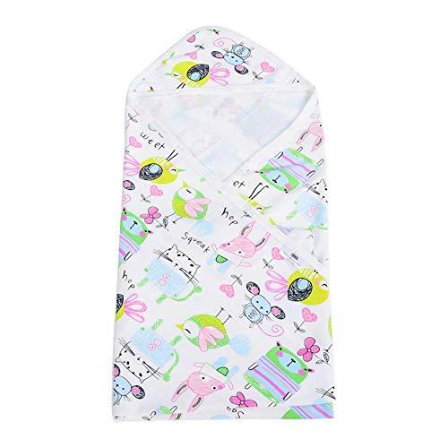 Toallas encapuchadas del bebé, Albornoz Encapuchada Suave recién Nacida de la Toalla de baño del algodón Respirable para los niños 80 * 75 cm(Mice Animals)
