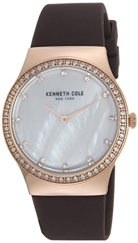 Kenneth Cole New York Women's Quartz Stainless Steel and Silicone Casual Watch, Color:Brown (Model: KC50062001)