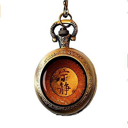 Firefly Serenity Glass Art Pendant Pocket Watch Necklace, Jewelry, Gift,Men Women Necklace