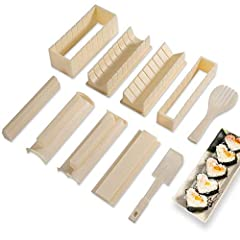 ♥PREMIUM QUALITY MATERIALS: The HT&WC sushi maker is made with superior quality, highly durable food-grade materials, which are easy to clean and guaranteed to withstand the test of time. ♥EASY TO USE & PRACTICAL: Say goodbye to failed experiences, w...