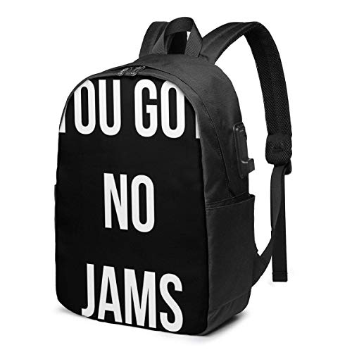 Hdadwy You Got No Jams Trendy Travel USB Backpack,17 Inch Computer Business Backpacks Student Backpack Casual Hiking Daypack