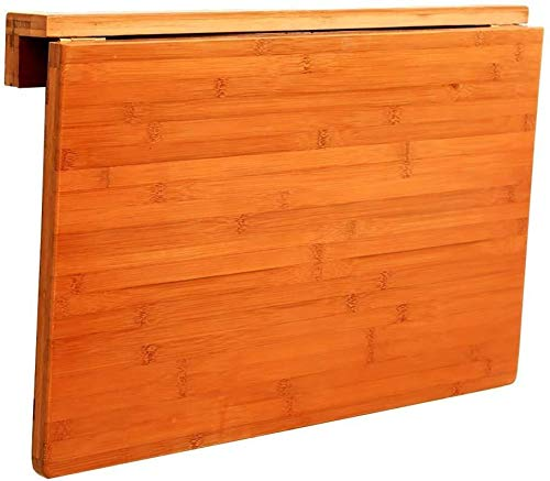 Kleine wand-koffietafel, kleine wandtafel, houten tafel, klaptafel van bladhout, gebleekt keukentafel tot 50 kg, 7 cm, klaptafel 80 * 45cm