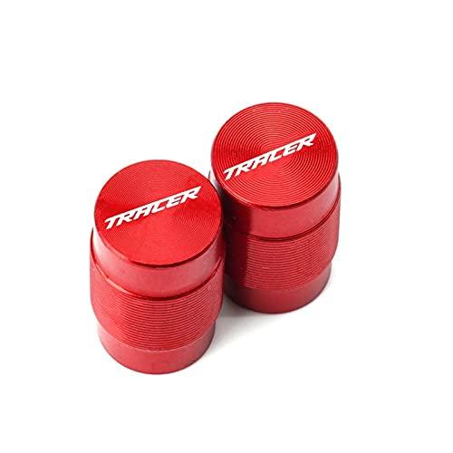 Para Yamaha Tracer 900 700 GT 900GT Tracer MT09 MT07 MT 09 MT 07 2020 2021 Tapas de vástago de válvula de neumático de motocicleta y puños de barra de mango (color: válvula de neumático roja)