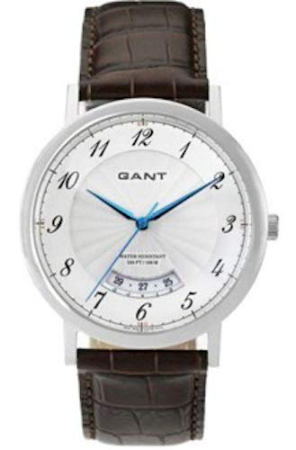 GANT W10902 - Reloj analógico de Cuarzo para Hombre, Correa de Cuero Color marrón