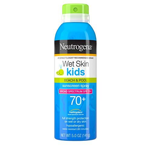 Neutrogena Wet Skin SPF 70 Sunblock Spray for Kids - 5 Oz, (Pack of 2)