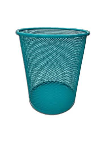 Blauer Mülleimer | für die Küche, das Büro oder das Zimmer | Metalldrähte | EUROXANTY® | 24 x 27 cm | 10 L