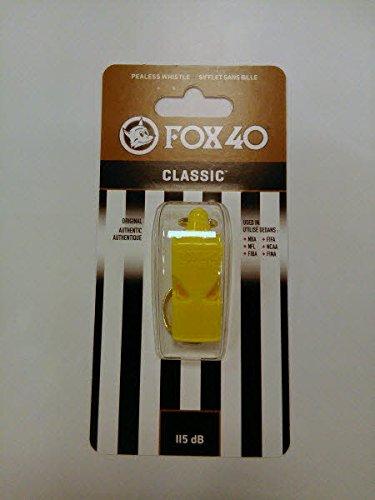 Fischietto FOX 40 CLASSIC GIALLO fox40 arbitro calcio arbitri referee