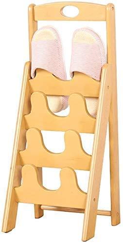 Zapatero de bambú Hogar Sala de Estar Baño Zapatillas Soporte Personalidad Zapatero Colgante (Color: A)