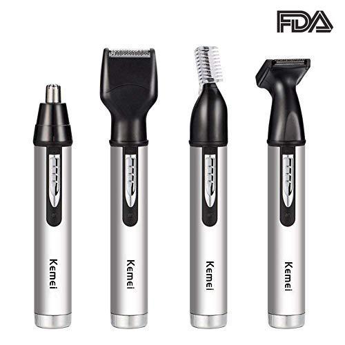 Nasenhaartrimmer elektrische nasenhaar entferner, Bewegliche 4 in 1 Nasentrimmer Mann-Gesichtsobacht-Werkzeug.