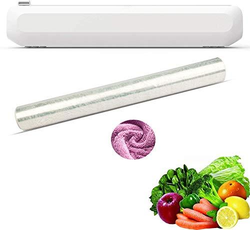 Qundkouy Película para Alimentos, Dispensador De Película para Alimentos con Cuchillo, Cortador De Película De Plástico/Papel De Aluminio para Alimentos, Adecuado para Corte De Película De Plástico