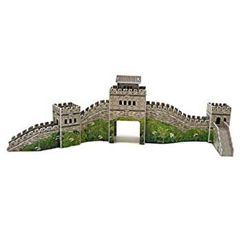 Runsong Creative 3D Puzzle Paper Model Great Wall DIY Fun & Educational Toys World Great Architecture Series 28 Pcs