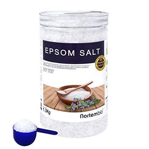 NortemBio Sal de Epsom 1,3 Kg. Fuente Concentrada de Magnesio. Sales 100%...
