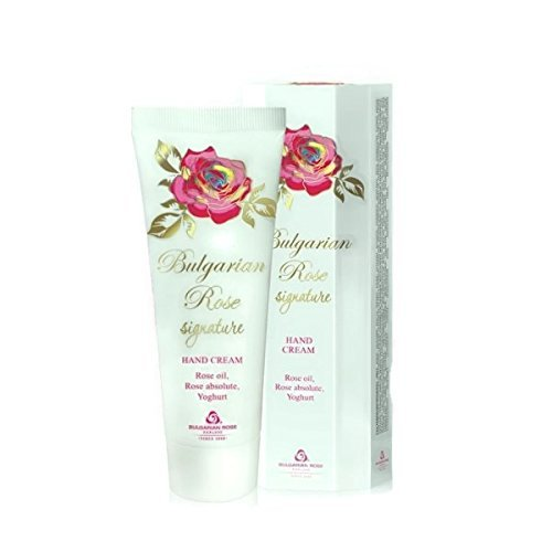 Natural Rose Hand Cream 2.5 Oz/ 75 ml Regenerates, Moisturizes and Smoothes the Skin of the Hands Natural Rose Oil, Rose Absolute, Yoghurt, Argan Oil by Bulgarian Rose Signature