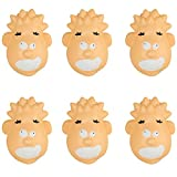 Closeoutservices Stress Faced Head Shaped Stress Relief Toy, Face Stress Toy, Stress Ball, Stress Ball, Squeezable Foam - Lot of 6