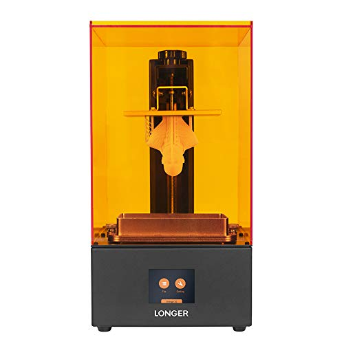 LONGER Orange 30 3D Printer, Upgraded Resin SLA 3D Printer with Touch Color Screen, 2K High Resolution LCD, Parallel LED Lighting, High-Temperature Warning, Bigger Build Size 4.72 x 2.68x 6.69 inch