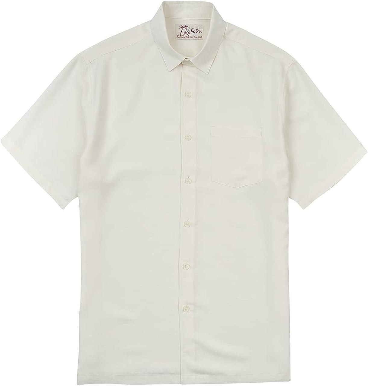 Kahala Kapena Hawaiian Aloha Shirt, Regular Fit Short Sleeve Button Down Casual Mens Top