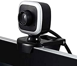 Yuxahiugstx 480P HD Webcam, Clip-on Computer USB Built-in Microphone Video Call Webcast Camera for PC Laptop, External Con...