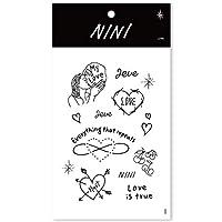 [TATTIST] 03. NINI - LOVE_Premium Tattoo Sticker / 韓国SNSで話題沸騰中 / まるで本当にタトゥーを描いたよう‼︎/防水効果で長持ち!! [並行輸入品]