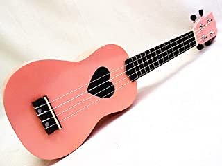 WOODNOTE Beautiful Wooden Pink with Heart Hole 21' Soprano Ukulele/rosewood Fingerboard & Bridge